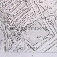 pianta 1863-70 Mun. di Napoli f. Piedigrotta - dettaglio