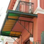 villino Casciaro - tettoia con vetrata policroma