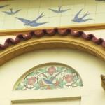 villa Carolina - fregio maiolicato