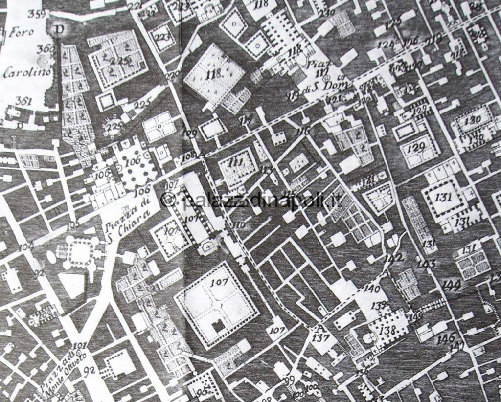Carafa 1775 piazza Santa Chiara