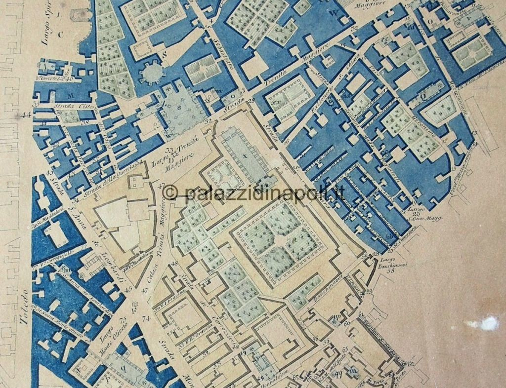 piazza del Gesù Carta Marchese 1804