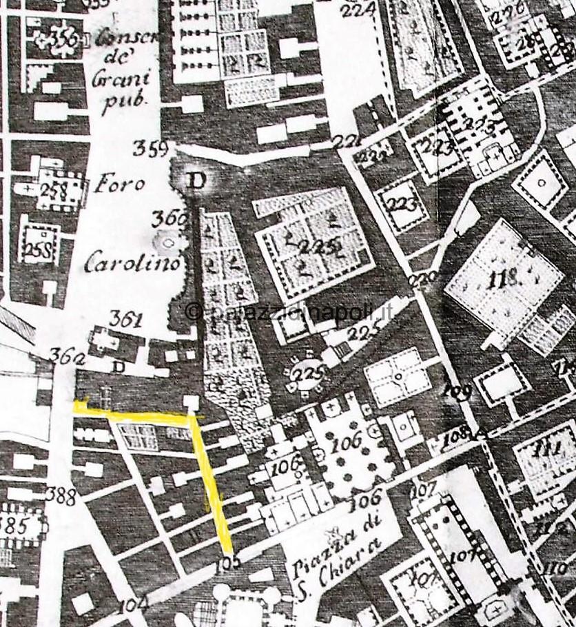 Carafa 1775 via Cisterna dell'olio