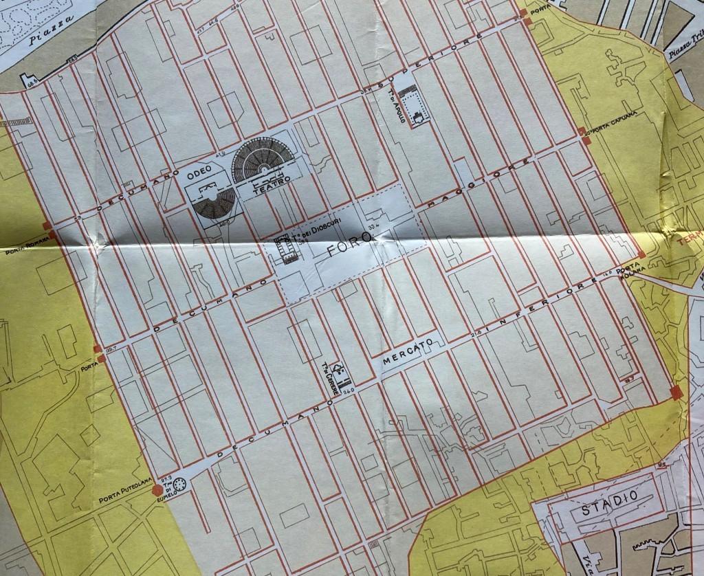 mappa Capasso decumano inferiore